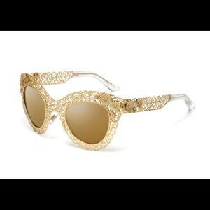 Dolce & Gabbana Gold Filagree Sunglasses